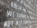 Lords Prayer Carved in Stone Royalty Free Stock Photo