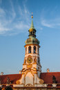Loreta monastery in prague on a sunset and blue sky Stock Photos