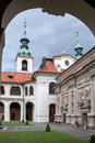 Loreta prague czech republic june courtyard of place consisting of a cloister the church of church of nativity holy hut and Royalty Free Stock Photo