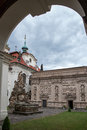 Loreta prague czech republic june courtyard of place consisting of a cloister the church of church of nativity holy hut and Royalty Free Stock Images