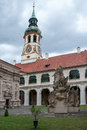 Loreta prague czech republic june courtyard of place consisting of a cloister the church of church of nativity holy hut and Stock Photography