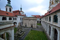 Loreta prague is a large pilgrimage destination in hradčany a district of czech republic it consists of a cloister the church of Royalty Free Stock Images