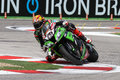 Loris baz on kawasaki zx r kawasaki racing team superbike wsbk riding with at world championship imola Stock Photography