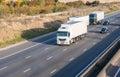 Lorries on the motorway Royalty Free Stock Photo