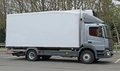 Lorry truck a modern cargo transport in a car park Stock Images