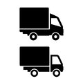 Lorry van icons Royalty Free Stock Photo