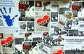 Los 99% ocupan la tarjeta del movimiento Foto de archivo libre de regalías