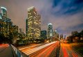 Los angeles alla notte Fotografie Stock