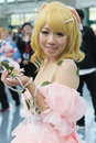 Los angeles ca july fan in costume at an la anime expo convention center on Royalty Free Stock Images