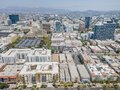 Los Angeles, CA, LA County, June 2, 2021: Aerial View of LA Koreatown with Wilshire Blvd, Vermont St, 7th St around Bullocks, hist