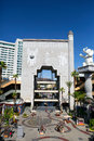 Los angeles ca patio at the dolby theater — outdoor surrounded by cafes restaurants shops where to relax eat and enjoy word Stock Photography