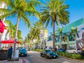 Los Angeles, California, View of Rodeo Drive during sunny day in Beverly Hills Royalty Free Stock Photo