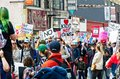 March for Our Lives movement`s march in Downtown Los Angeles Royalty Free Stock Photo