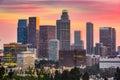 Los Angeles, California Skyline Royalty Free Stock Photo