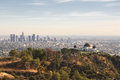 Los angeles california usa downtown skyline from griffith park Stock Photography