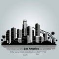 Los Angeles city silhouette. Royalty Free Stock Photo