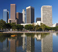 Los Angeles city skyline Royalty Free Stock Photo