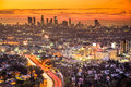 Los angeles cityscape california usa downtown skyline at dawn Royalty Free Stock Photo