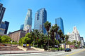 Los angeles downtown panorama of Royalty Free Stock Image