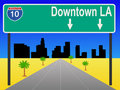 Los Angeles freeway Stock Photo
