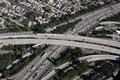 Los angeles freeway interchange aerial Royalty Free Stock Images