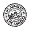 Los Angeles grunge rubber stamp Stock Photo