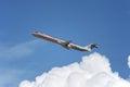 Los angeles kalifornia usa marzec american airlines mcdonnell douglas md bierze daleko od los angeles lotniska na marzec w los Obraz Stock