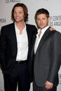 Los angeles mar jared padalecki jensen ackles arriving supernatural paleyfest saban theatre march beverly hills ca Stock Image