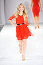 Los angeles march celebrities walk the runway at go red in support of american heart association during style fashion week Royalty Free Stock Images