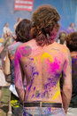Los angeles march people celebrate holi festival colors march los angeles ca Royalty Free Stock Photo