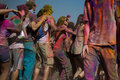 Los angeles march people celebrate holi festival colors march los angeles ca Stock Photo
