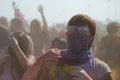 Los angeles march people celebrate holi festival colors march los angeles ca Stock Image