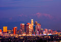 Los Angeles at night Stock Image