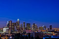 Los Angeles Skyline At Night Royalty Free Stock Photography