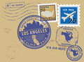 Los Angeles stamp Royalty Free Stock Image