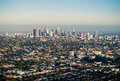 Los Angeles under Smog Royalty Free Stock Photo