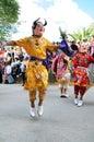Los Diablos Dance in Cajabamba, Peru Royalty Free Stock Photos