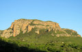 Los mallos de riglos unusual shaped red conglomerate rock formation in spain the are a set of formations hoya huesca comarca Stock Photos