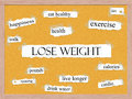 Lose Weight Corkboard Word Concept Royalty Free Stock Photo