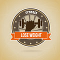 Lose weight design over brown background vector illustration Stock Photo