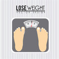 Lose weight design over gray background vector illustration Royalty Free Stock Images