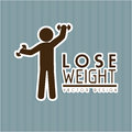 Lose weight design over gray background vector illustration Royalty Free Stock Photography