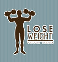 Lose weight design over gray background vector illustration Stock Photos