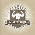 Lose weight design over gray background vector illustration Stock Images