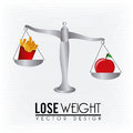 Lose weight design over lineal background vector illustration Royalty Free Stock Image
