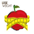 Lose weight design over white background vector illustration Stock Photo
