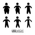 Lose weight design over white background vector illustration Stock Photos