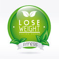 Lose weight design over white background vector illustration Royalty Free Stock Photos