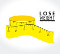 Lose weight design over white background vector illustration Royalty Free Stock Images