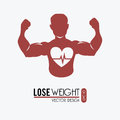 Lose weight design over white background vector illustration Stock Photography